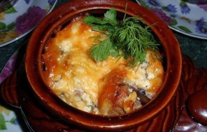 Жаркое с свининой и картошкой в горшочках в духовке рецепт с пошагово